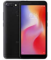 "Смартфон Xiaomi Redmi 6 3/32Gb Black Global, 12+5/5Мп, Helio P22, 2sim, 5.45"" IPS, 3000mAh, GPS, 8 ядер"