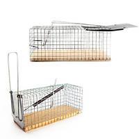 Крысоловка-клетка с деревянной основой, 2 штуки, фото 1