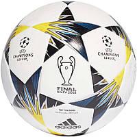 Мяч футбольный Adidas Finale Kiev Top Training FIFA CF1204 бело-сине-желтый, размер 5, фото 1