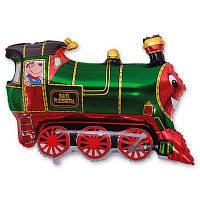 """Фольгированные шары мини-фигуры """"Поезд зеленый"""""""