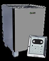 EcoFlame SAM D-12 12 кВт + пульт CON6 - Электрокаменка для сауны и бани, от 10 до 18 м3, пульт в комплекте