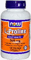 Л Пролин, Now Foods, L-Proline, 500 mg, 120  Caps