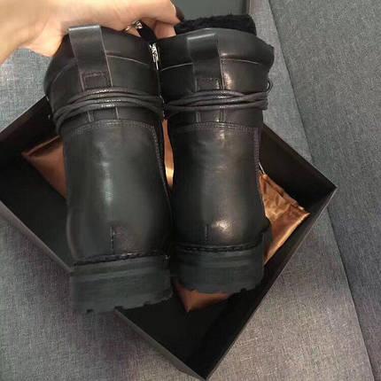 Стильные зимние ботинки. Цвет черный, фото 2