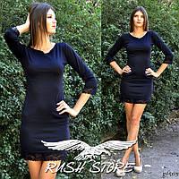Облегающее платье с кружевом, фото 1