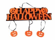 "Подвесной декор (табличка) к Хэллоуин "" Happy halloween"""
