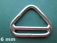 Нержавеющее треугольное кольцо с перемычкой, 6 мм