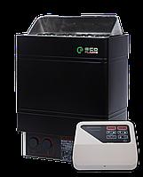 EcoFlame AMC 90-D 9 кВт + пульт CON4 - Электрокаменка для сауны и бани, от 8 до 13 м. куб., пульт в комплекте