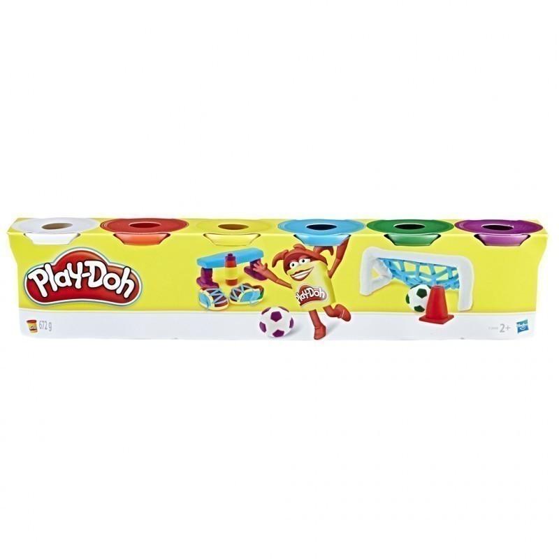 Набор пластилин Play-Doh 6 баночек общим весом 672 грамма (C3898). Оригинал Hasbro