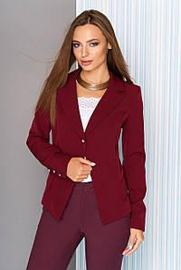 Пиджак приталенный классический бордо