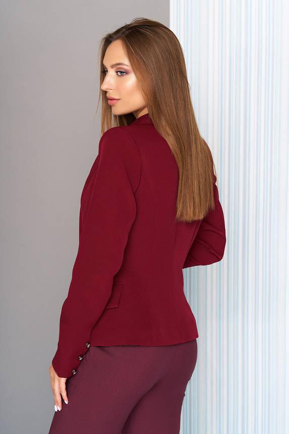 Пиджак приталенный классический бордо, фото 2