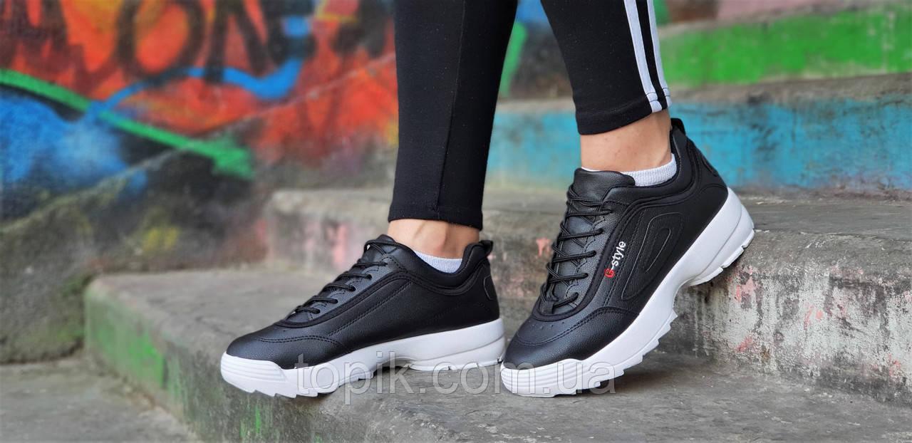 1fa572b5 ... Кроссовки хайповые на платформе в стиле FILA реплика, женские,  подростковые черные молодежные (Код ...