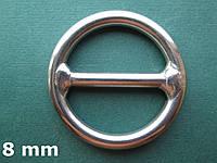 Нержавеющее кольцо с перемычкой, 8х50 мм