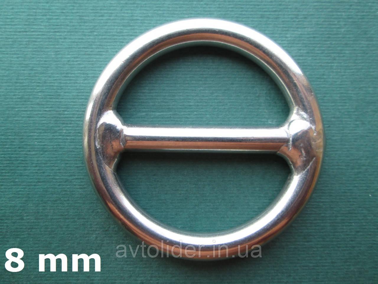 Нержавеющее кольцо с перемычкой, 8х50 мм, фото 1