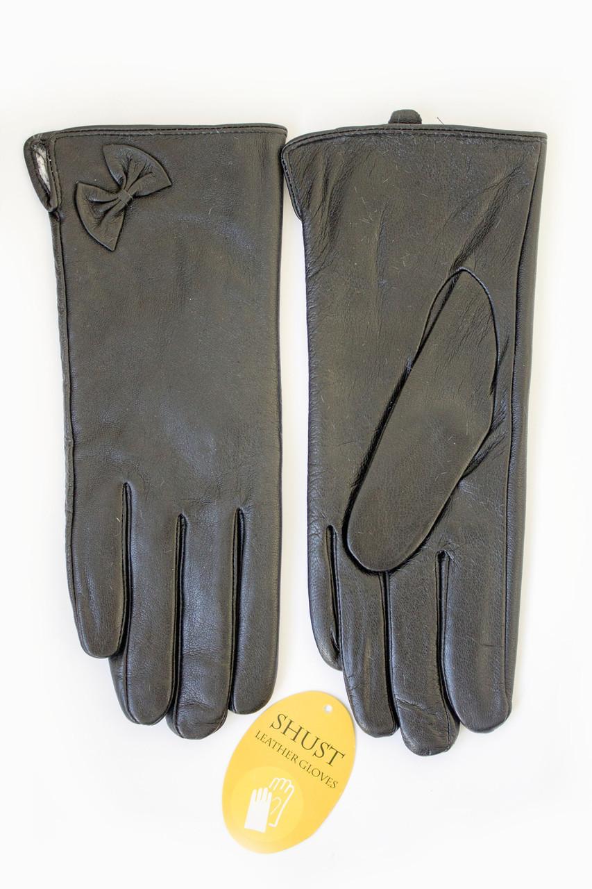 Женские кожаные перчатки сенсорные Вязка W22-160061