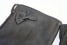 Женские кожаные перчатки сенсорные Вязка W22-160061, фото 2