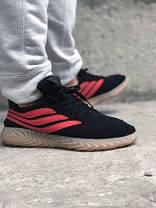 Кроссовки мужские черные Adidas Sobakov Black Orange Gum (реплика), фото 3