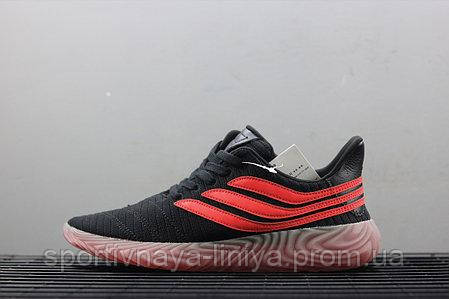 Кроссовки мужские черные Adidas Sobakov Black Orange Gum (реплика)