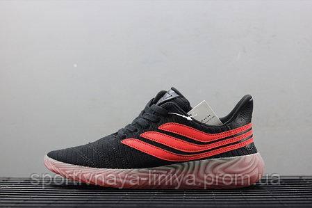 Кроссовки мужские черные Adidas Sobakov Black Orange Gum (реплика), фото 2