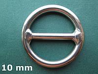 Нержавеющее кольцо с перемычкой, 10х60 мм
