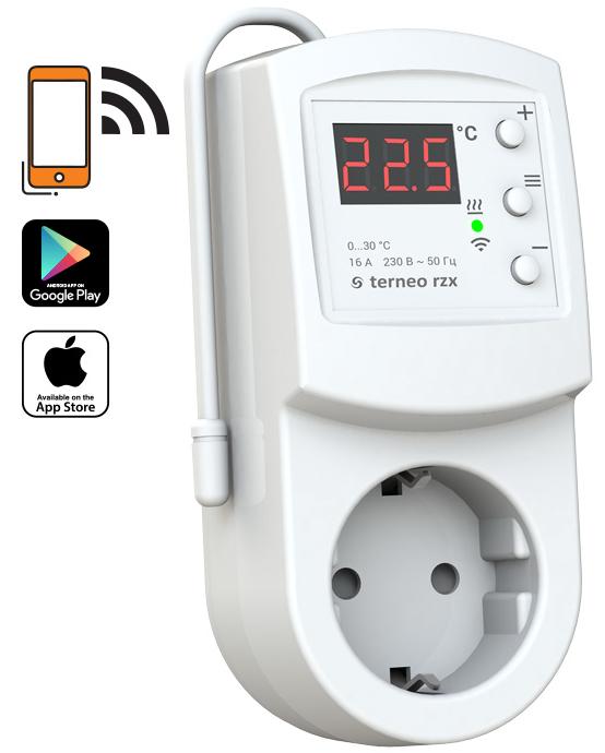 Розеточный Wi – Fi терморегулятор Terneo rzx
