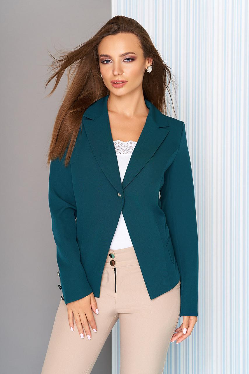 Пиджак приталенный классический изумруд