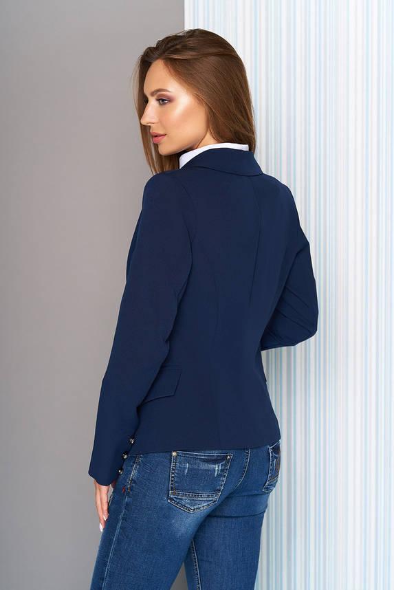 Пиджак приталенный классический синий, фото 2