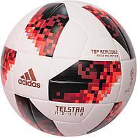 Мяч футбольный Adidas Telstar Mechta TopTraining FIFA CW4683 бело-красный, размер 5