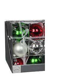 Елочные шарики, комплект 6 шт