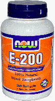 Витамин Е, смесь токоферолов, Now Foods, Vitamin E-200 IU, Mixed Tocopherols 100 Softgels