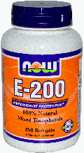 Витамин Е, смесь токоферолов, Now Foods, Vitamin E-200 IU, Mixed Tocopherols 100 Softgels