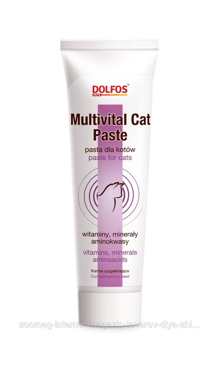 """Паста з вітамінами і мінералами, для всіх породних і вікових кішок """"Multivital Cat Paste"""" 100г., Dolfos™"""