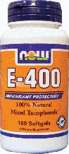 Витамин Е, смесь токоферолов, Now Foods, Vitamin E-400 IU, Mixed Tocopherols 100 Softgels