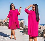 Шикарное нарядное платье дубаи+шифон в размерах 50-56, фото 2