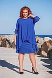 Шикарное нарядное платье дубаи+шифон в размерах 50-56, фото 4