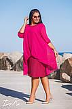Шикарное нарядное платье дубаи+шифон в размерах 50-56, фото 5