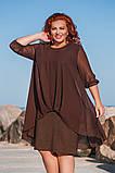 Шикарное нарядное платье дубаи+шифон в размерах 50-56, фото 6