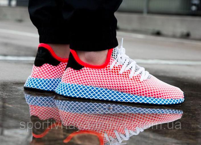 Кроссовки мужские красные Adidas Deerupt Runner  (реплика)