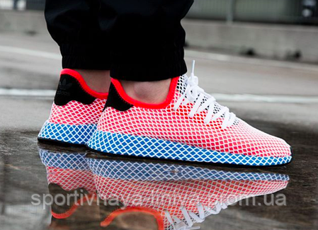 Кроссовки мужские красные Adidas Deerupt Runner  (реплика), фото 2