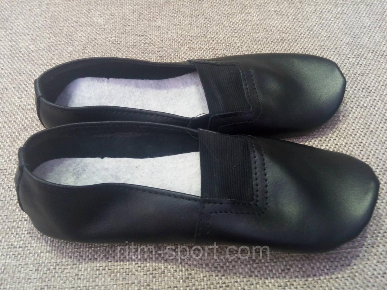 Чешки шкіряні чорні (розміри 39 - 42)