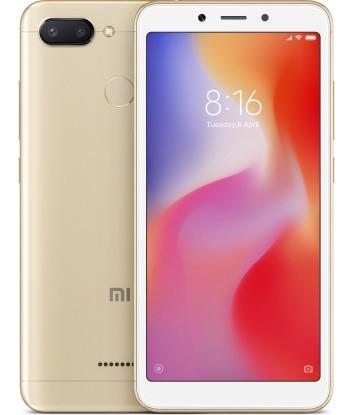 "Смартфон Xiaomi Redmi 6 4/64Gb Gold Global, 12+5/5Мп, Helio P22, 2sim, 5.45"" IPS, 3000mAh, GPS, 8 ядер"