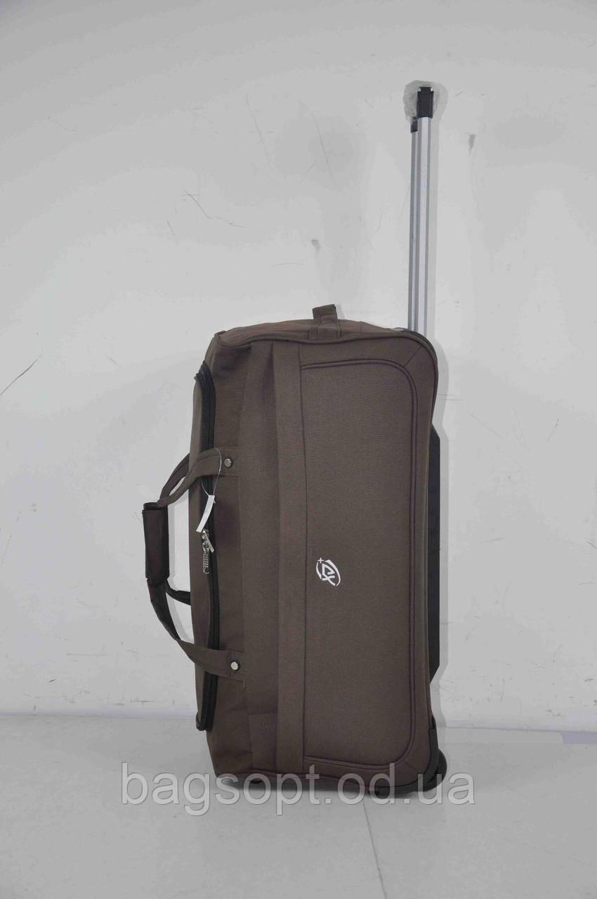 Дорожная вместительная сумка на колесах с выдвижной ручкой