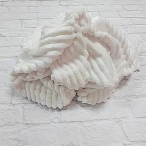 Плюшевая ткань Stripes белый (плот. 350 г/м.кв)
