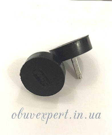 Набойки п/у на штыре BISSELL р.603 (кругл d17 мм, шт 2,9 мм), цв.чёрный, фото 2