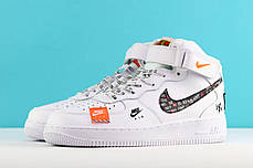 "Кроссовки Nike Air Force 1 Mid Just Do It ""White Pack"" (Белые), фото 3"