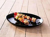 Блюдо овальное черное Friend Time, 33 см