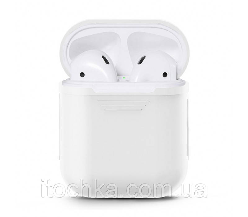 Чехол  Silicone Case for AirPods - White