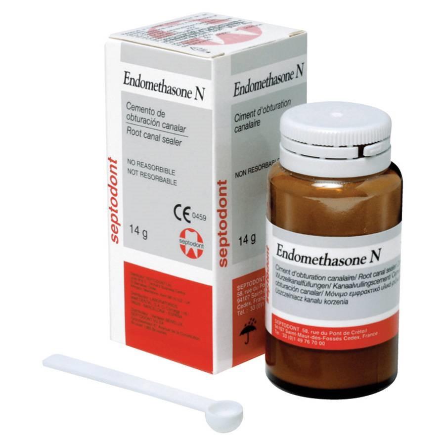 Пломбировочный материал Эндометазон Н (Endomethasone N), банка 14г, Septodont