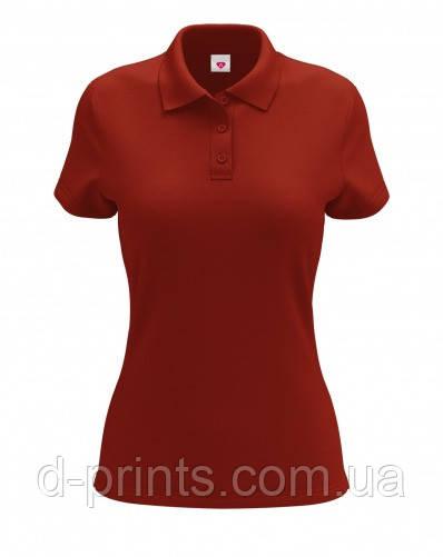 Футболка поло жіноча червона