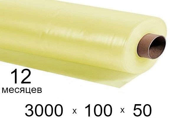 Пленка для теплиц 100 мкм - 3000 мм × 50 м - 12 месяцев