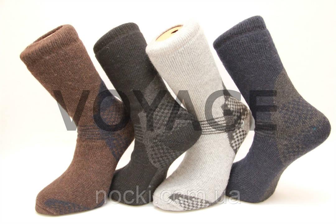 Мужские носки шерстяные высокие с махрой Кардешлер комбинирование